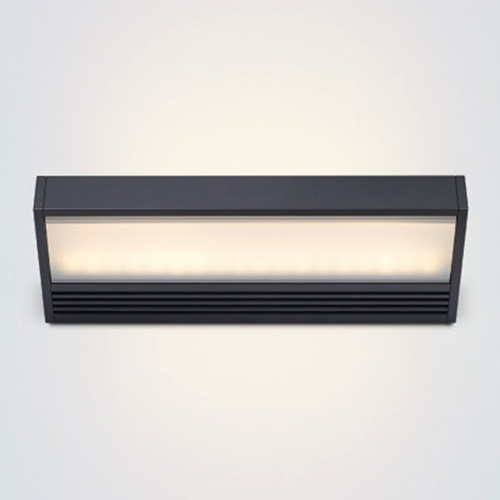 Svart LED-vegglampe SML