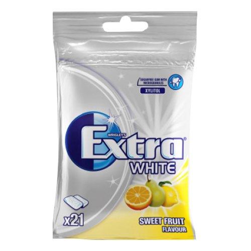 Extra White Sweet Fruit Tuggummi - 29 g