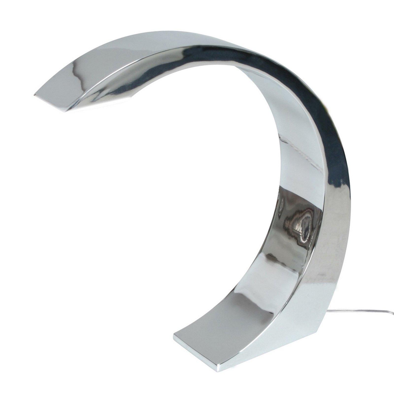 LED-bordlampe NAMI høyde 33 cm krom