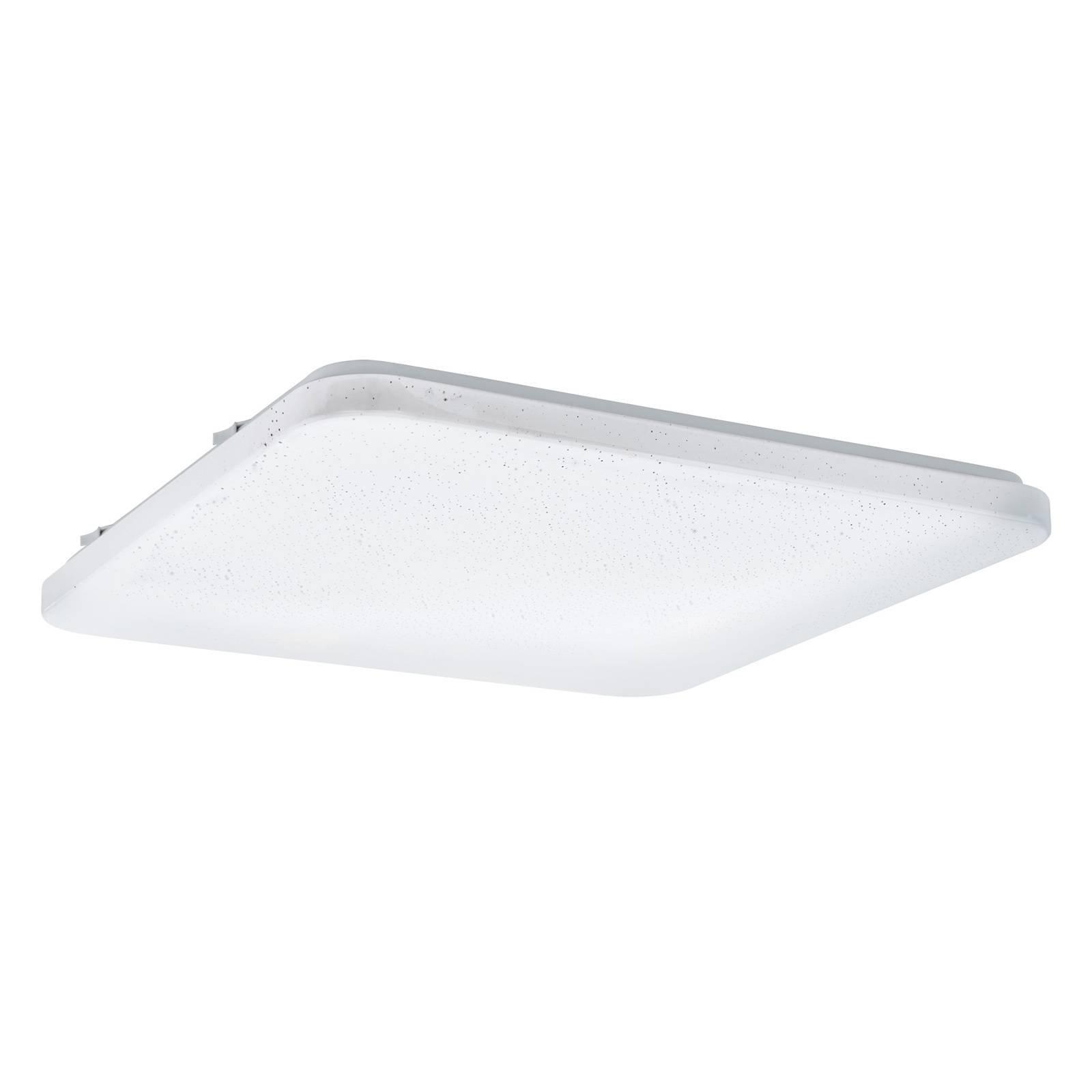 LED-taklampe Frania med krystalleffekt, kantet