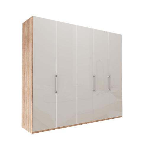 Garderobe Atlanta - Lys rustikk eik 250 cm, 216 cm, Uten gesims / ramme