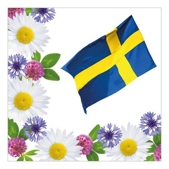 Servetter Svenska Nationaldagen - 20-pack
