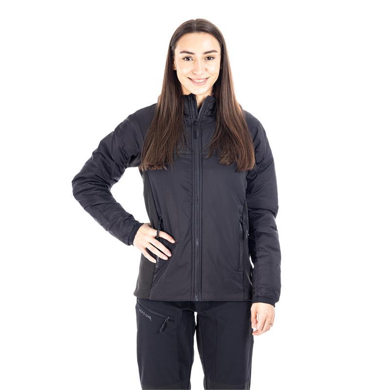 MoveOn Alta Isolight damejakke 38 Vannavstøtende vindtett jakke i Sort