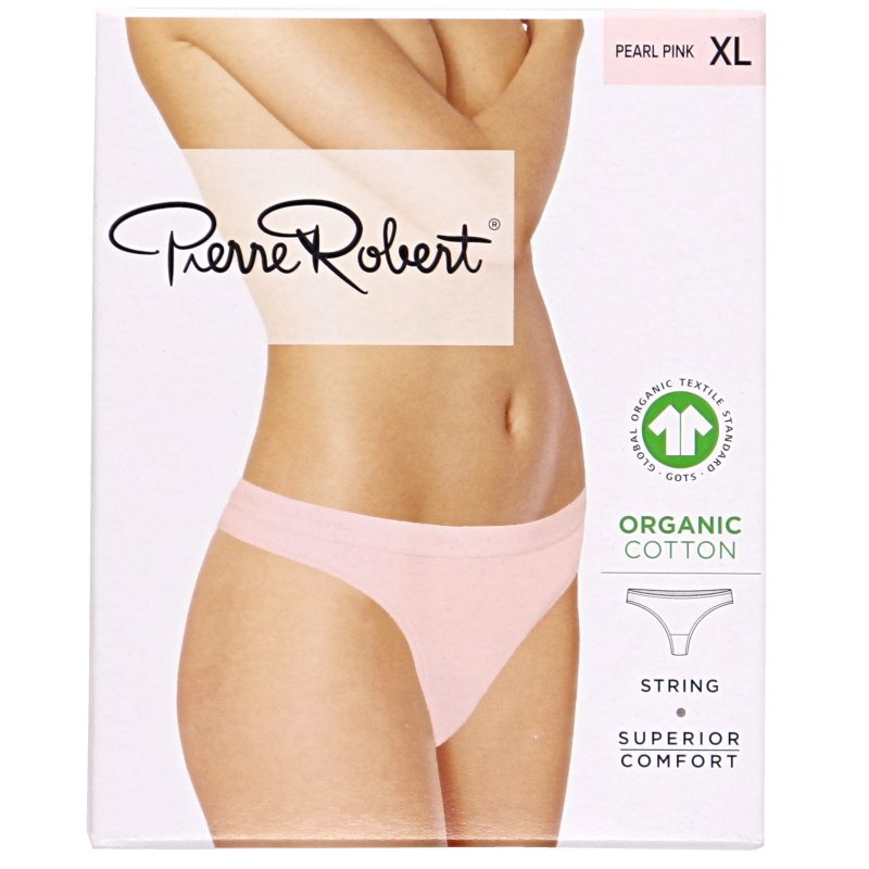 Luomupuuvillaiset stringit pearl pink XL - 78% alennus
