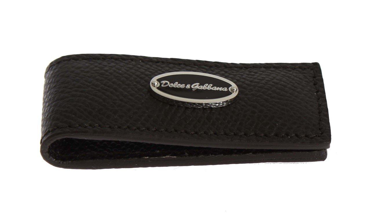 Dolce & Gabbana Men's Leather Magnet Money Clip Brown SIG31660