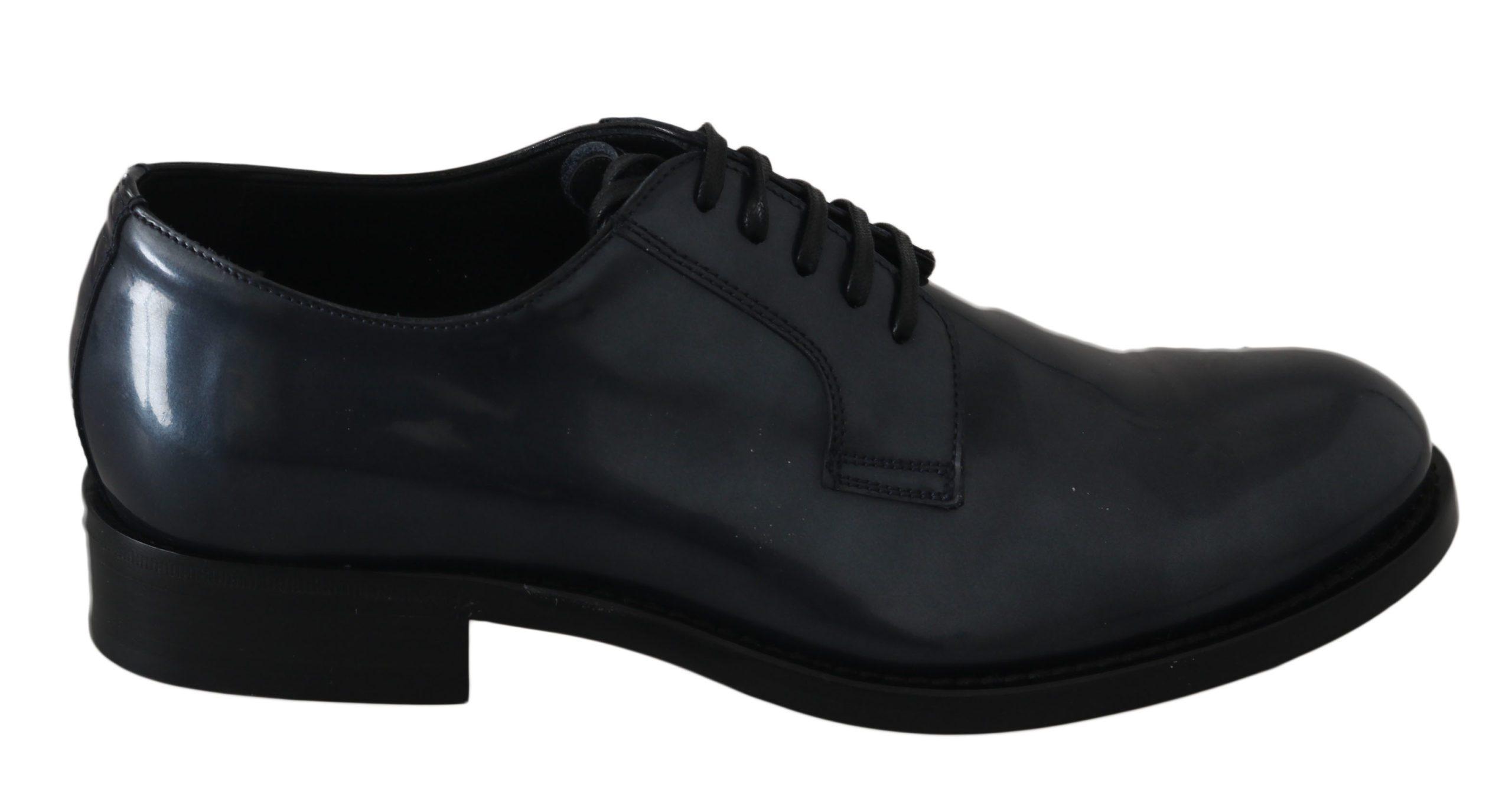 Dolce & Gabbana Men's Leather Derby Shoes Blue MV2436 - EU39/US6