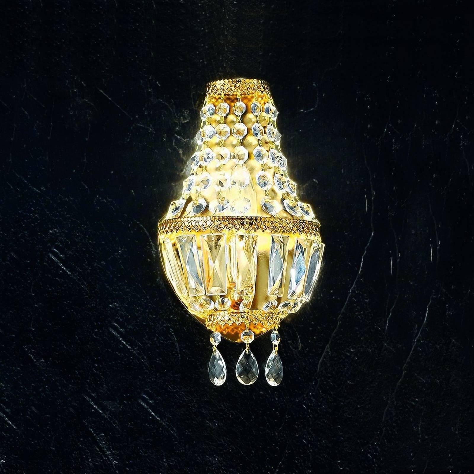 Cupola vegglampe er forgylt med 24 karat gull