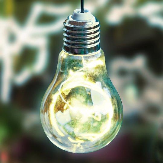 Aurinkokäyttöinen LED-riippuvalo 48514 hehkulamppu