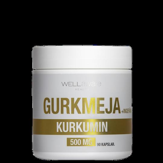 WellAware Gurkmeja/Ingefära 500 mg, 90 kapslar