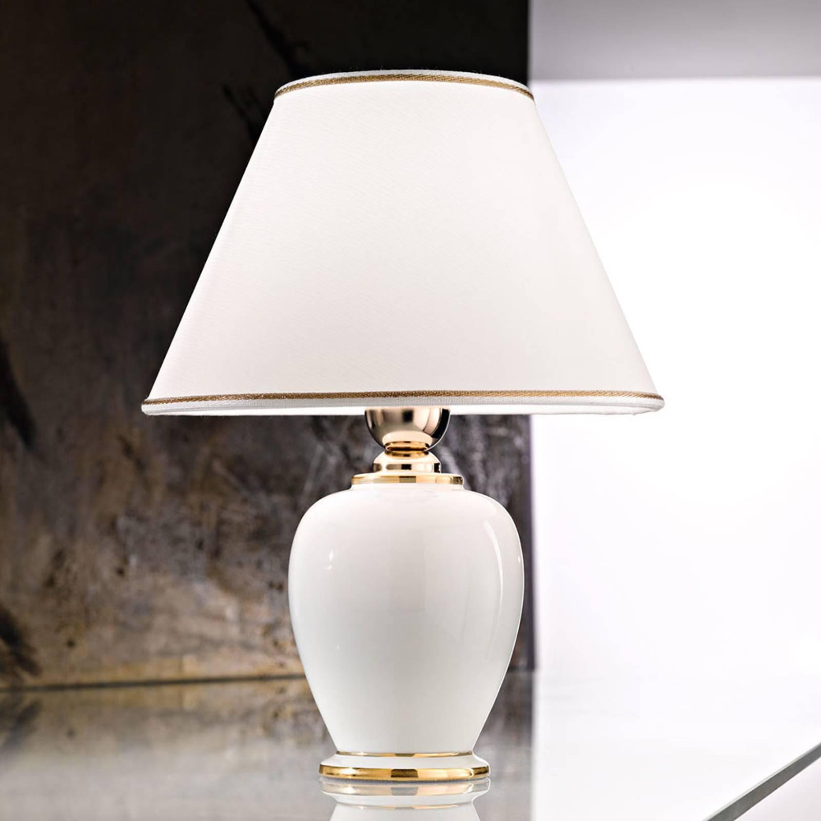 Pöytälamppu Giardino Avorio valkoinen-kulta Ø25 cm