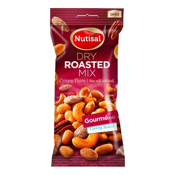 Nutisal Rostade Nötter Gourme Mix i Påse - 60 gram