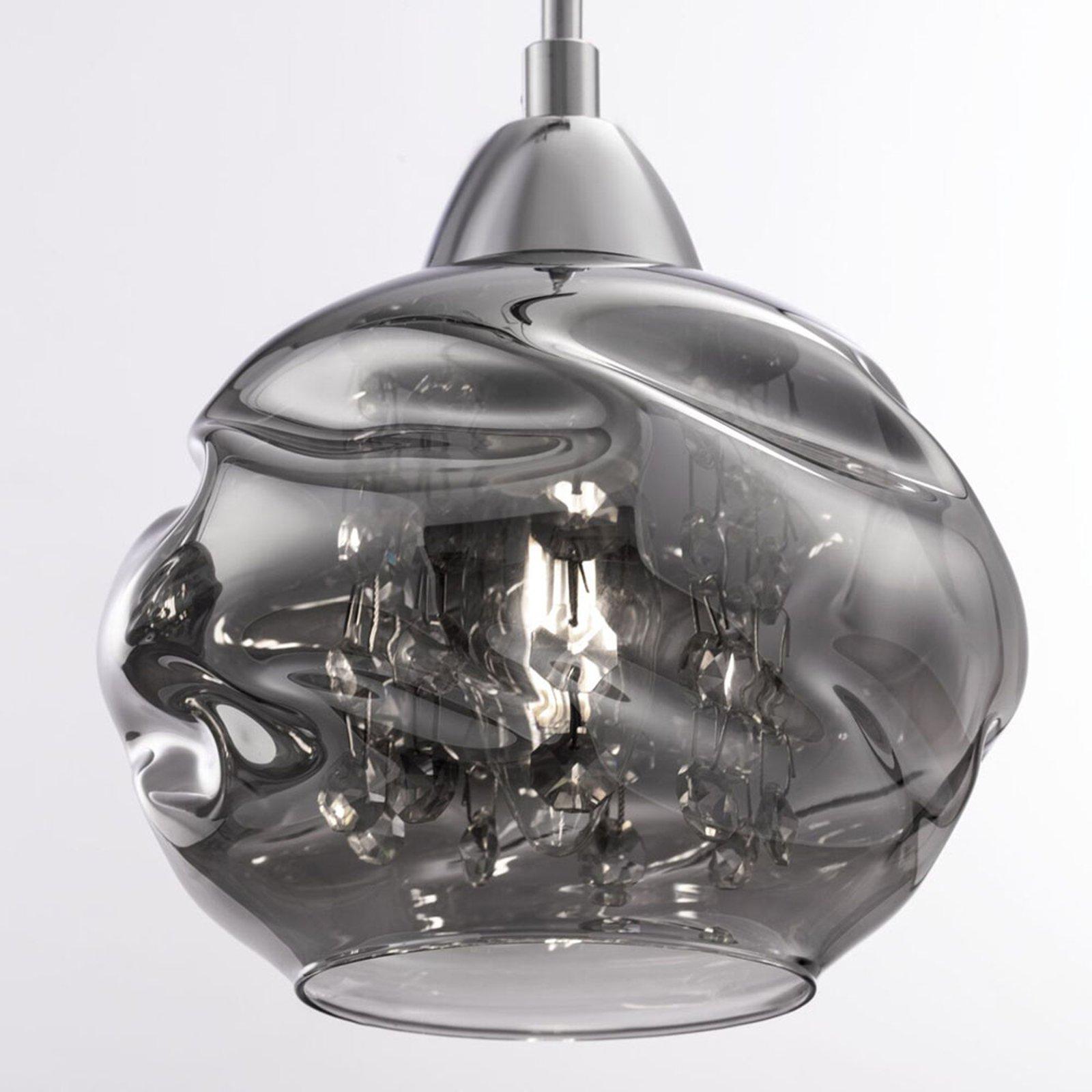 Haze hengelampe, 3 lyskilder med glasskjermer