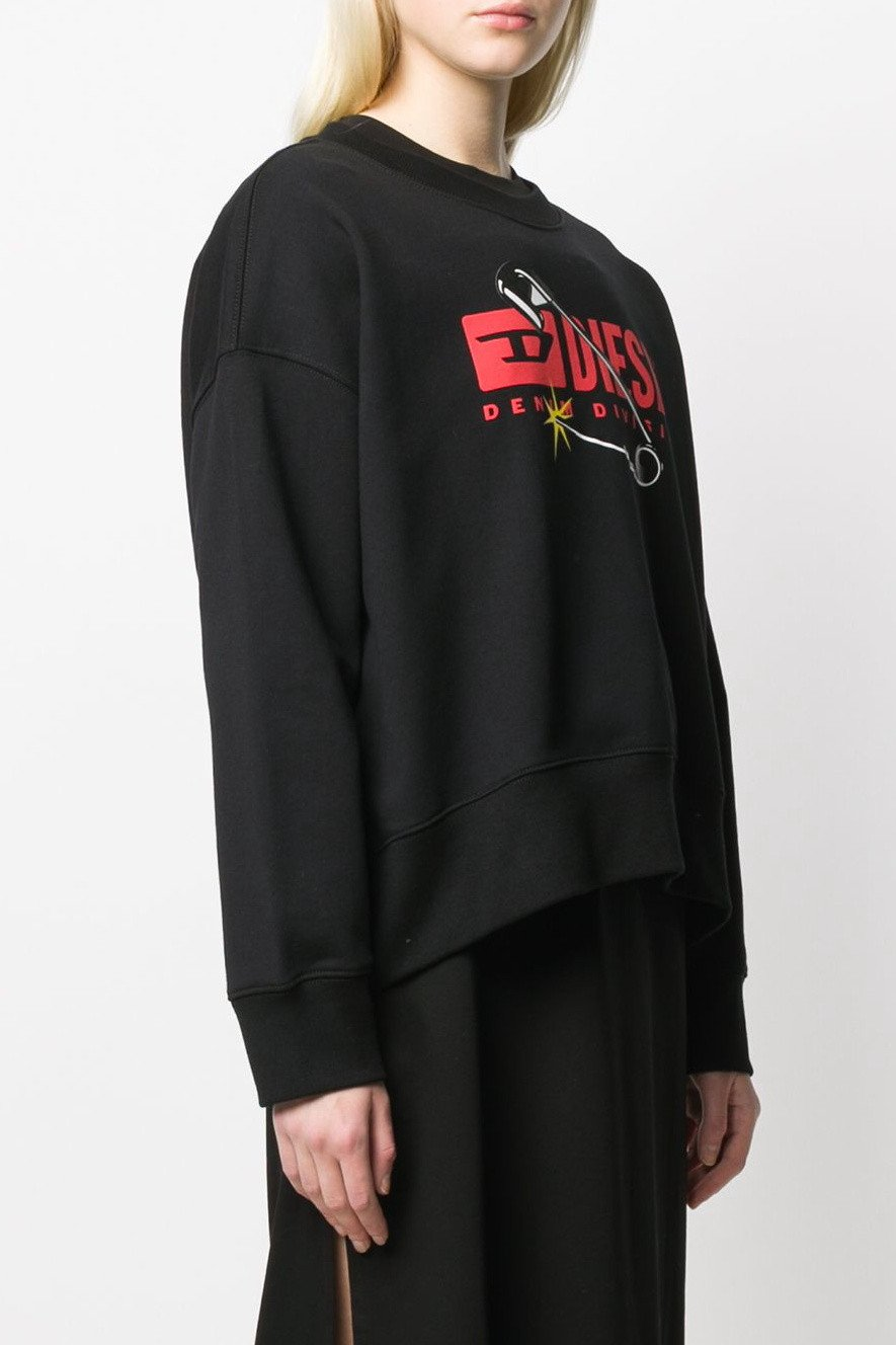 Diesel Women's Sweatshirt Various Colours 298725 - black S