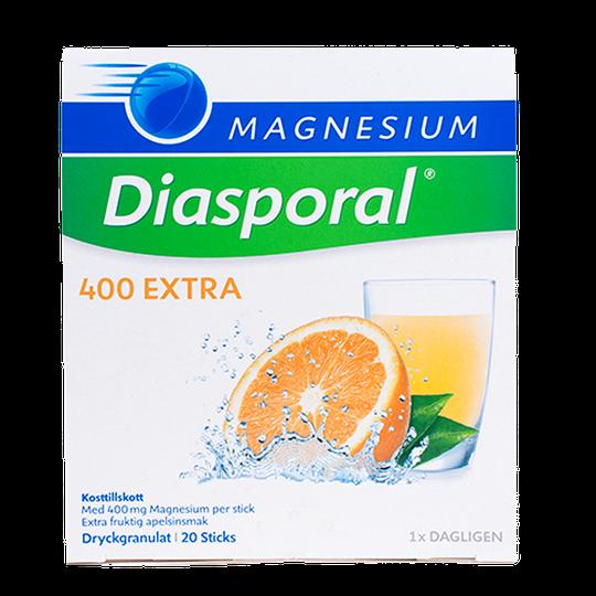 Magnesium Diasporal 400 mg Extra, 20 påsar