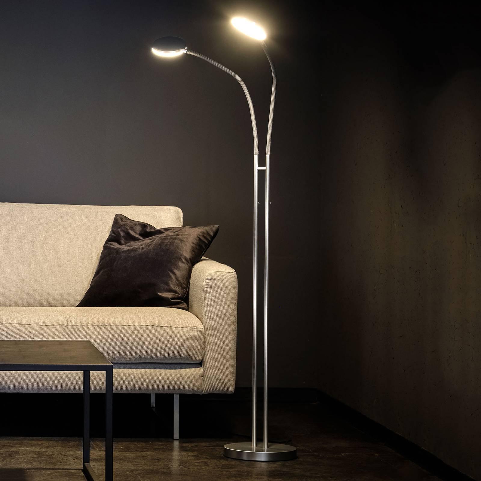 Holtkötter Flex Twin -LED-lattiavalo alumiini
