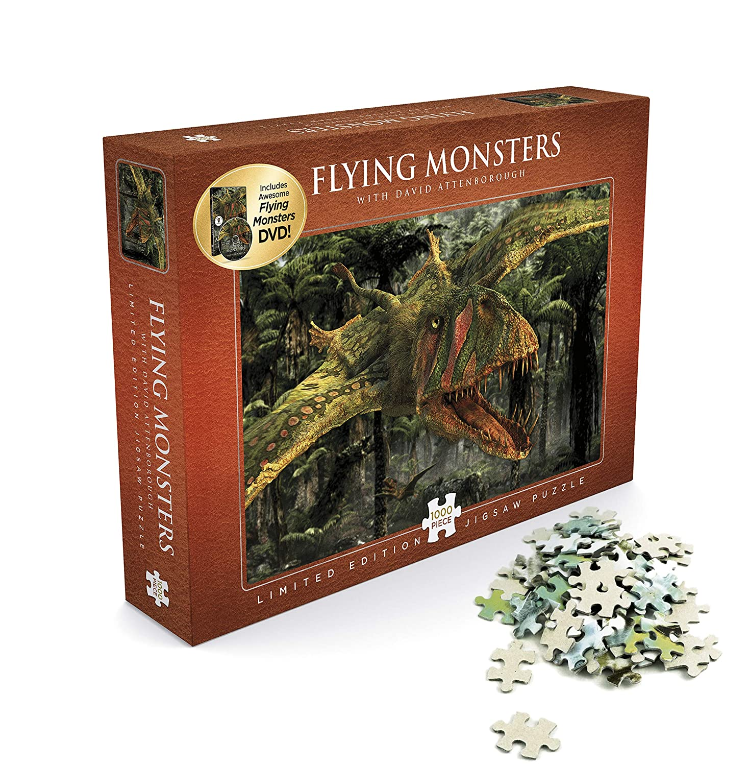 David Attenborough - Flying Monsters - Puzzle 1000 + DVD