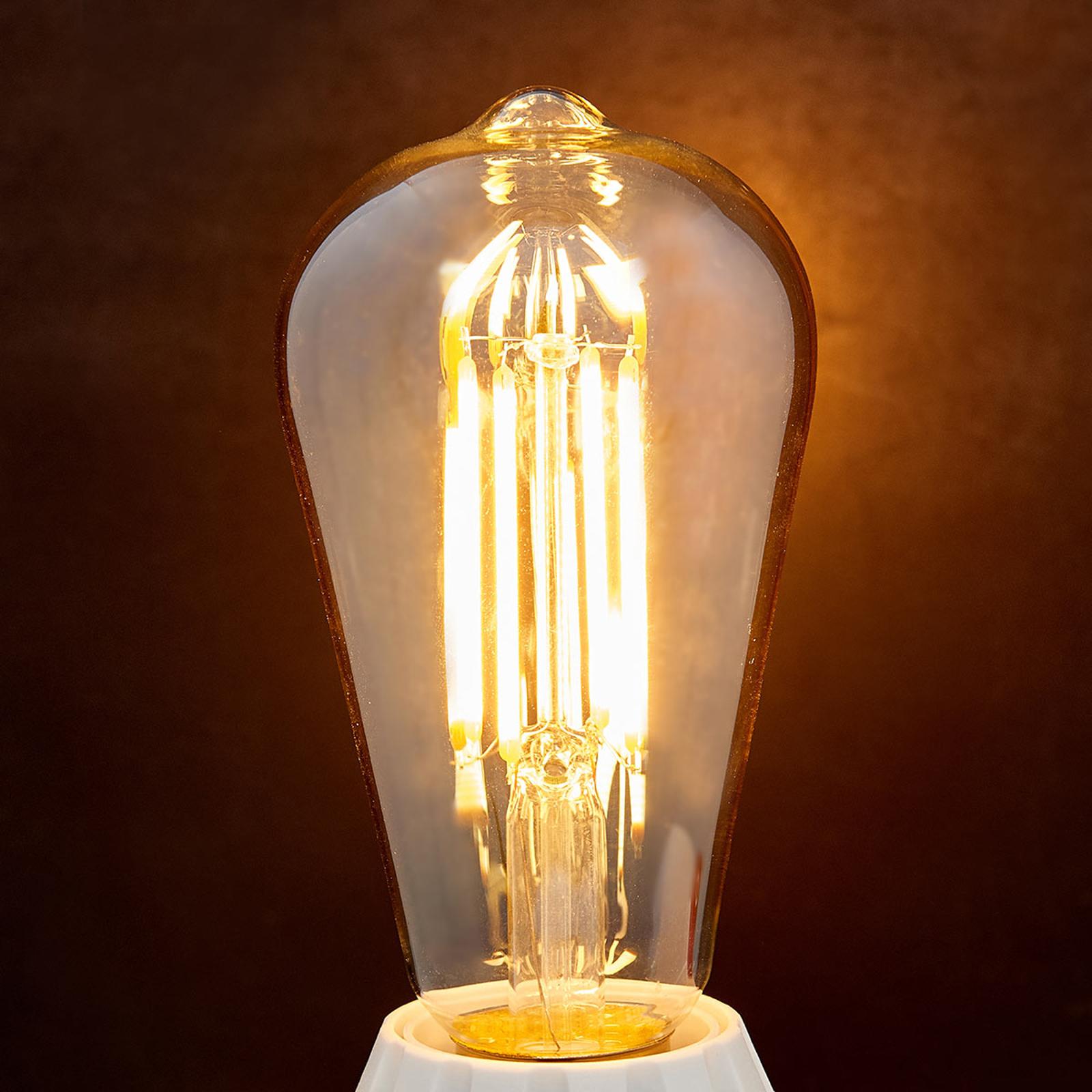 E27-LED-rustiikkilamppu 6 W 500 lm ambra 2 200 K