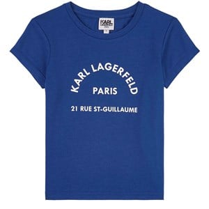 Karl Lagerfeld Kids Logo T-shirt Electric Blue 4 år