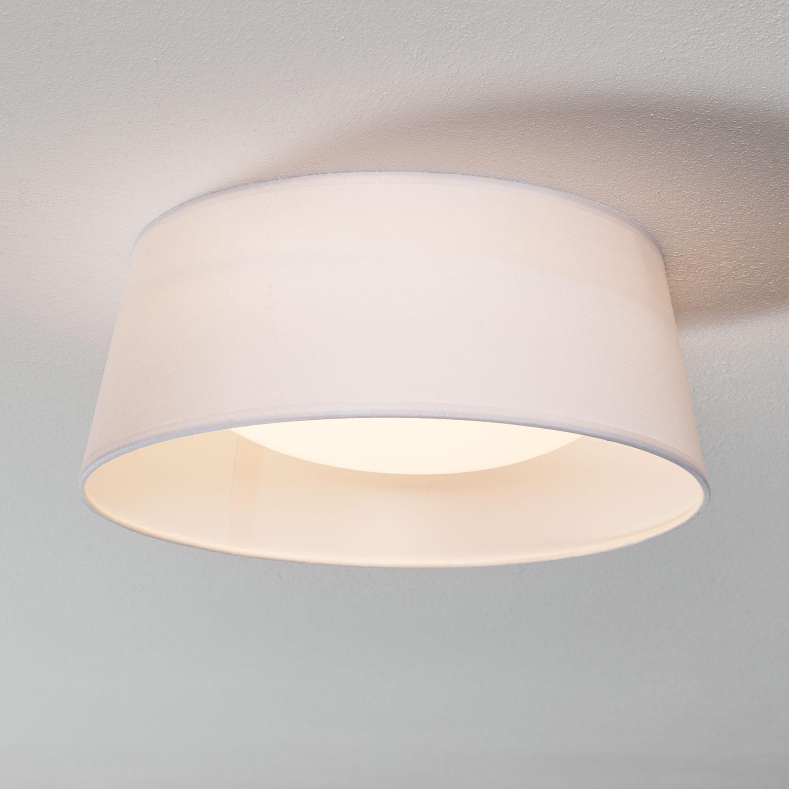 Valkoinen tekstiilikattovalaisin Ponts LEDeillä