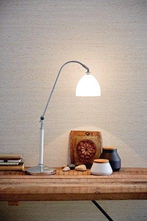 Spirit bordlampe - Hvit, glass med strømbryter