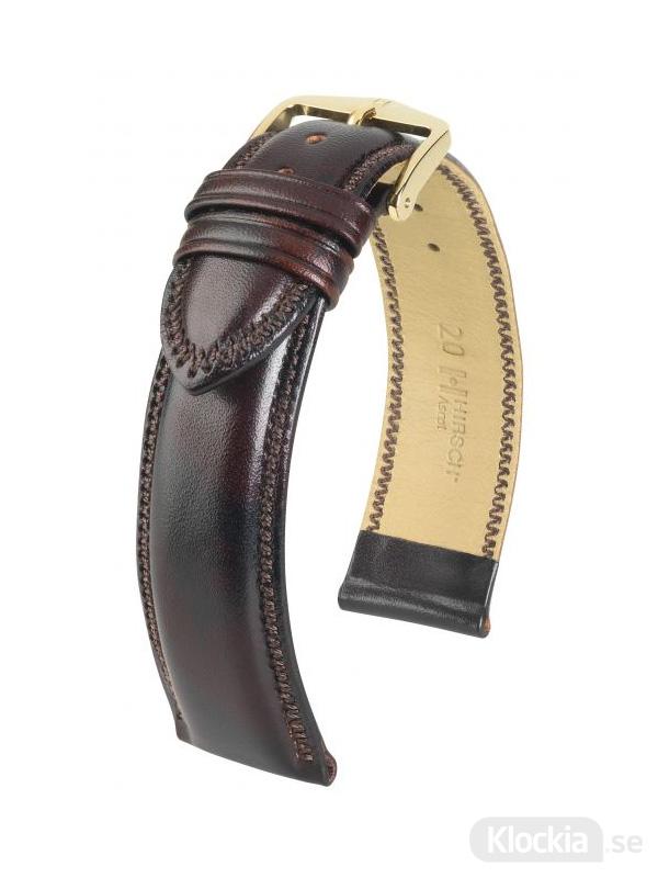 Hirsch Ascot 18mm Large Brun/Guld 01575010-1-18