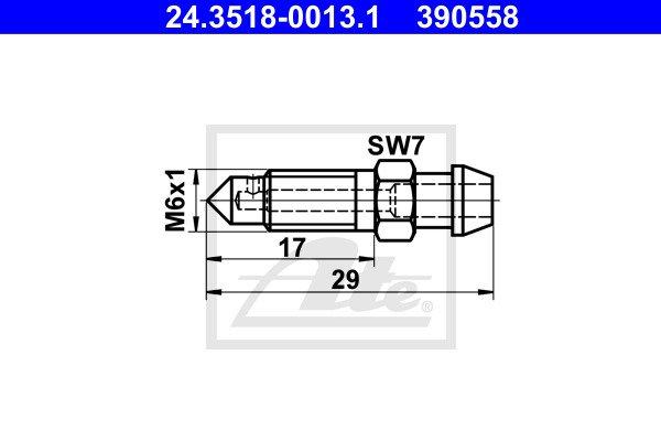 Huohottimen pultti / venttiili ATE 24.3518-0013.1