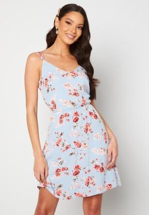 ONLY Karmen S/L Short Dress Cashmere Blue/Flower 36