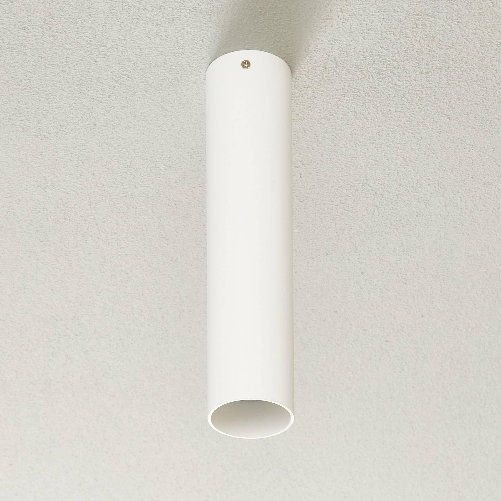 Lucande Takio -alasvalo GU10 Ø 6 cm valkoinen
