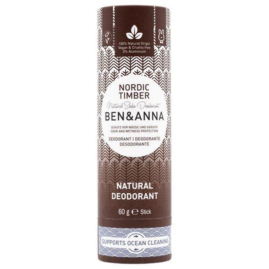 Ben & Anna Natural Soda Deo Stick Nordic Timber, 60 g