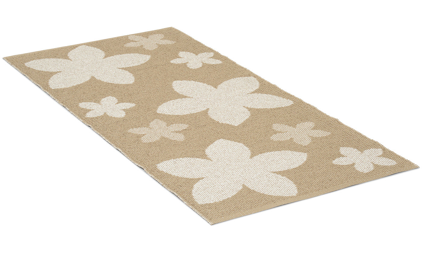 Flower beige - plastteppe