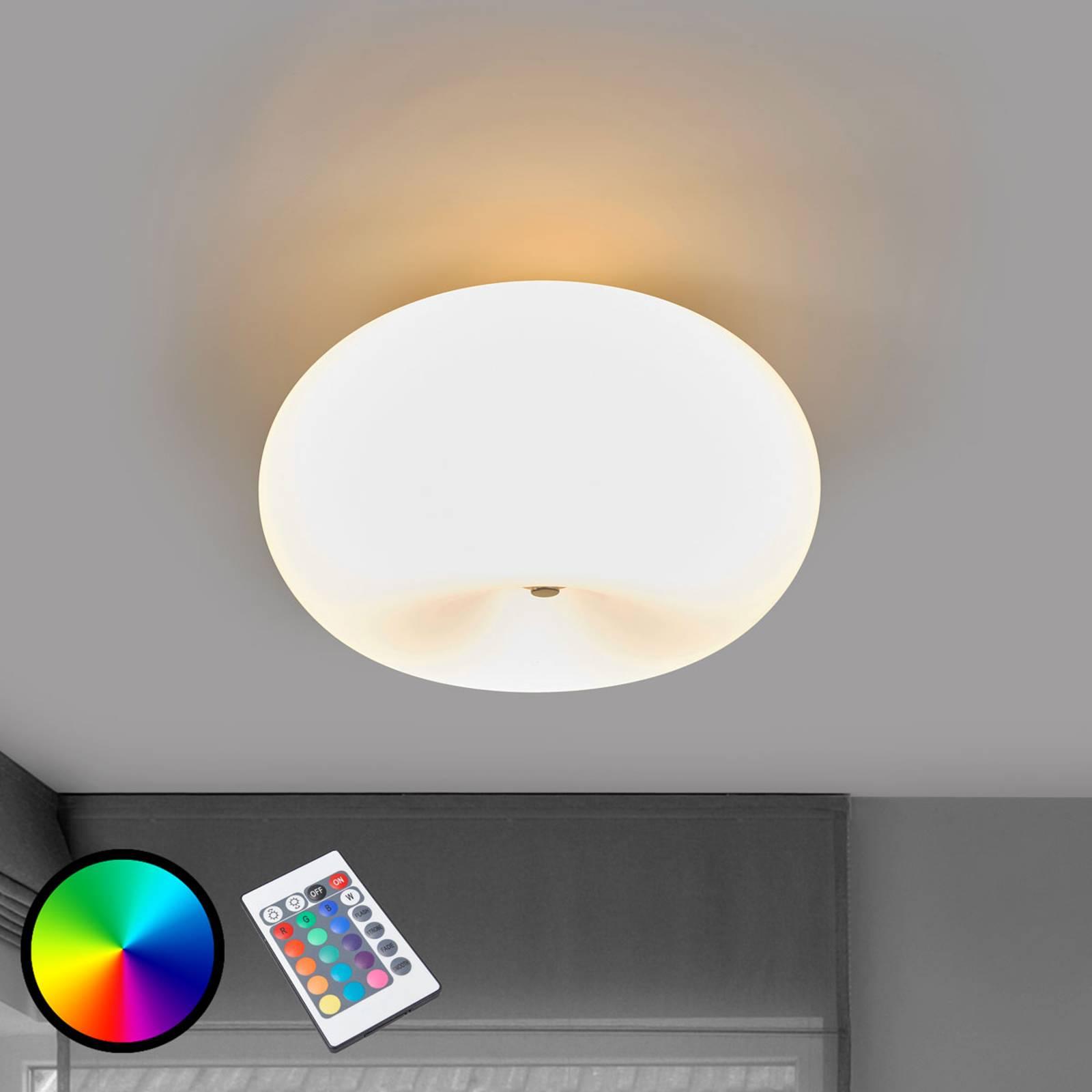 LED-kattovalaisin Optica-C RGBW, kaukosäädin sis.