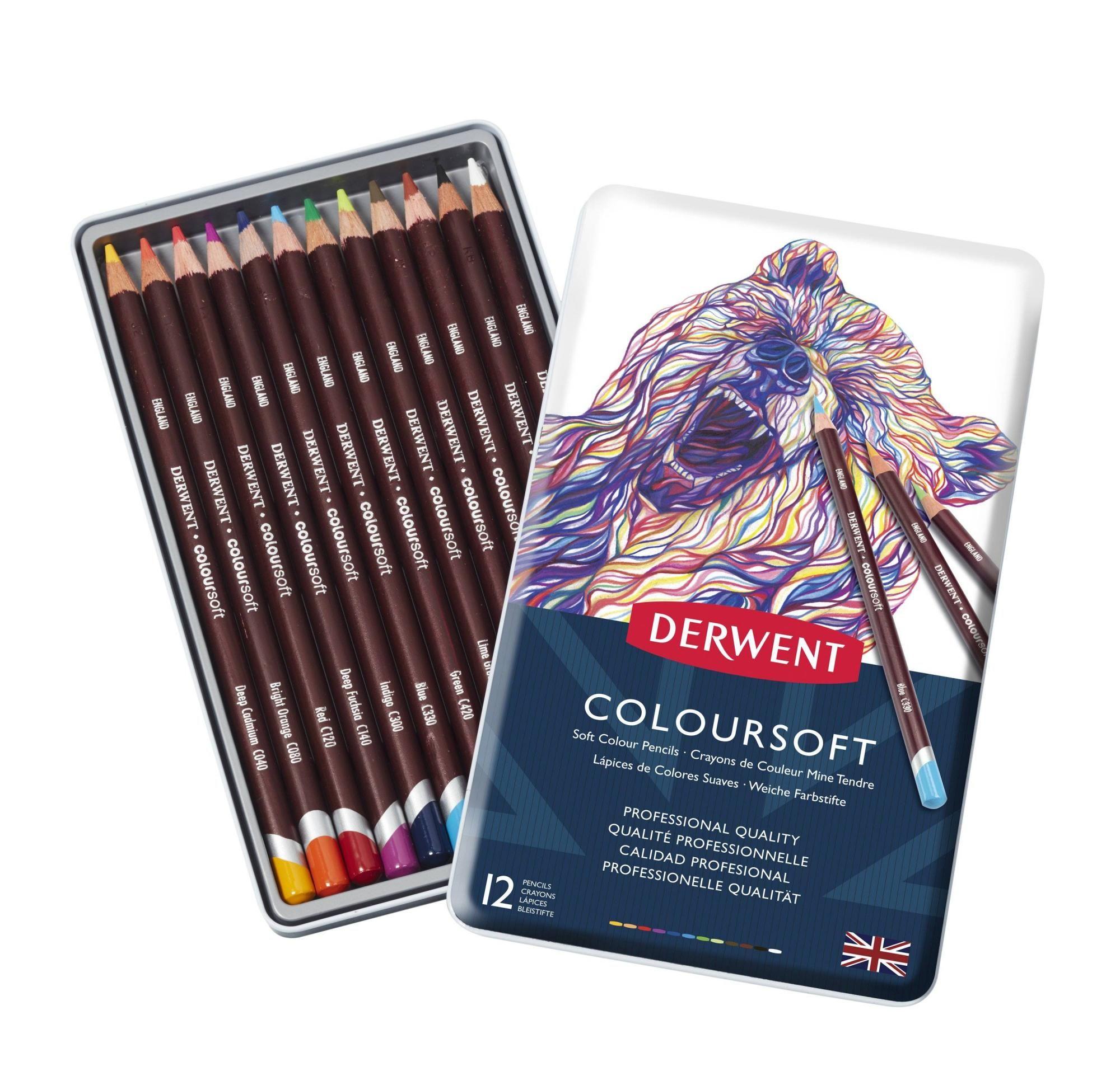 Derwent - Coloursoft Pencils, 12 Tin