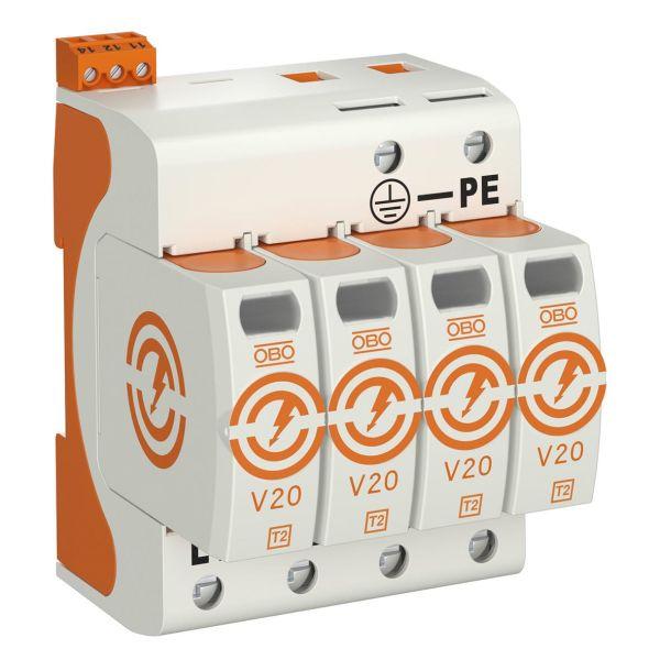 Obo Bettermann 5095284 Overspenningsvern type 2, 230 V, IP20 V20-4+FS-280