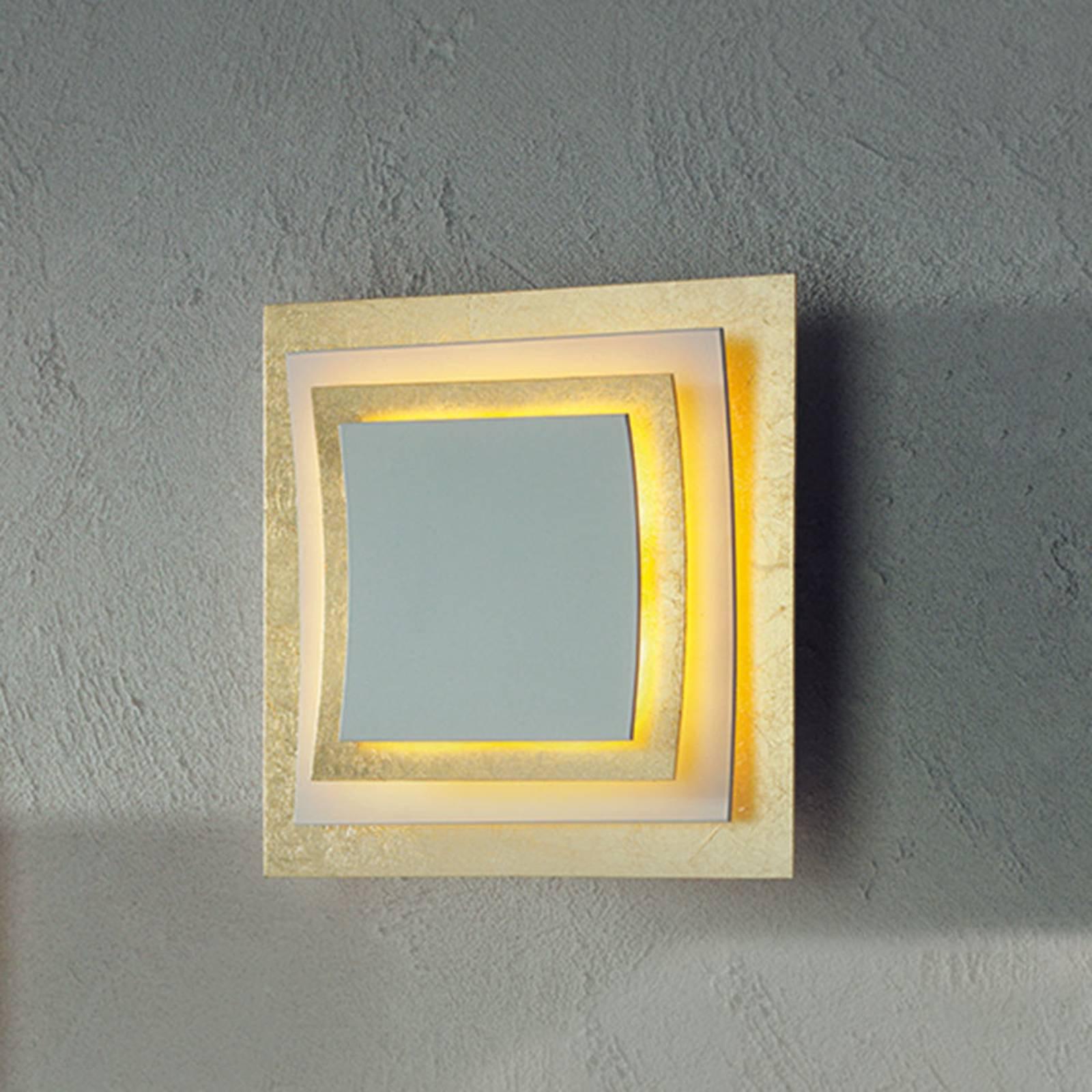Pages vegg- og taklampe med bladgull, 22 cm