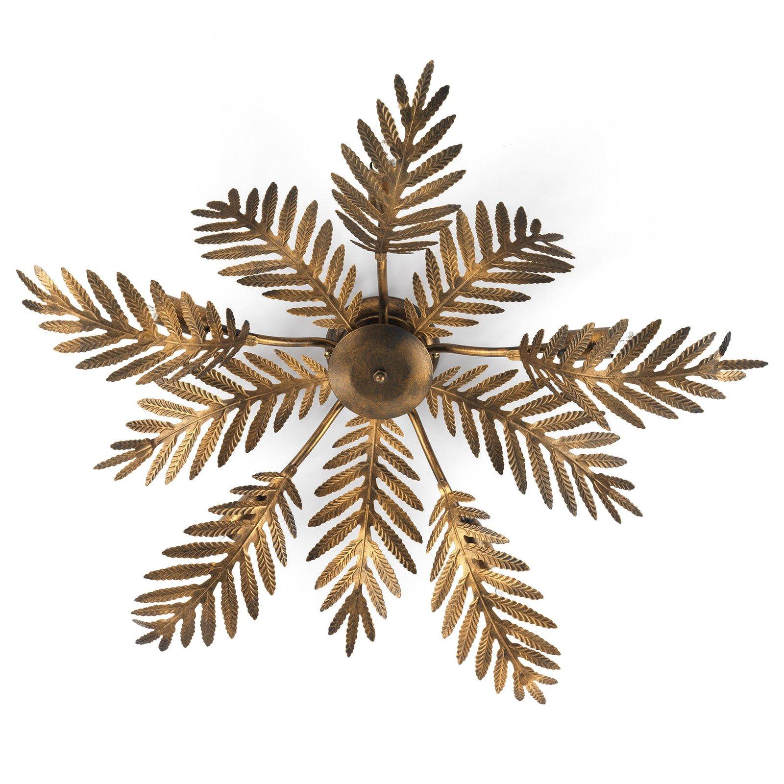 Taklampe Felce som bregne i bronse, Ø 75 cm