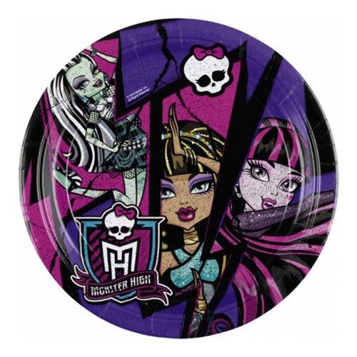 Papperstallrikar Monster High 2 - 8-pack