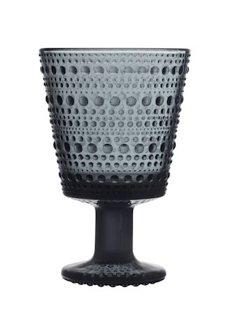 Kastehelmi Glass på fot 26 cl Mørkegrå 2 stk.
