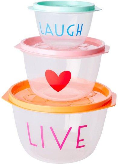 Rice Matboks Live Love Laugh 3-pack