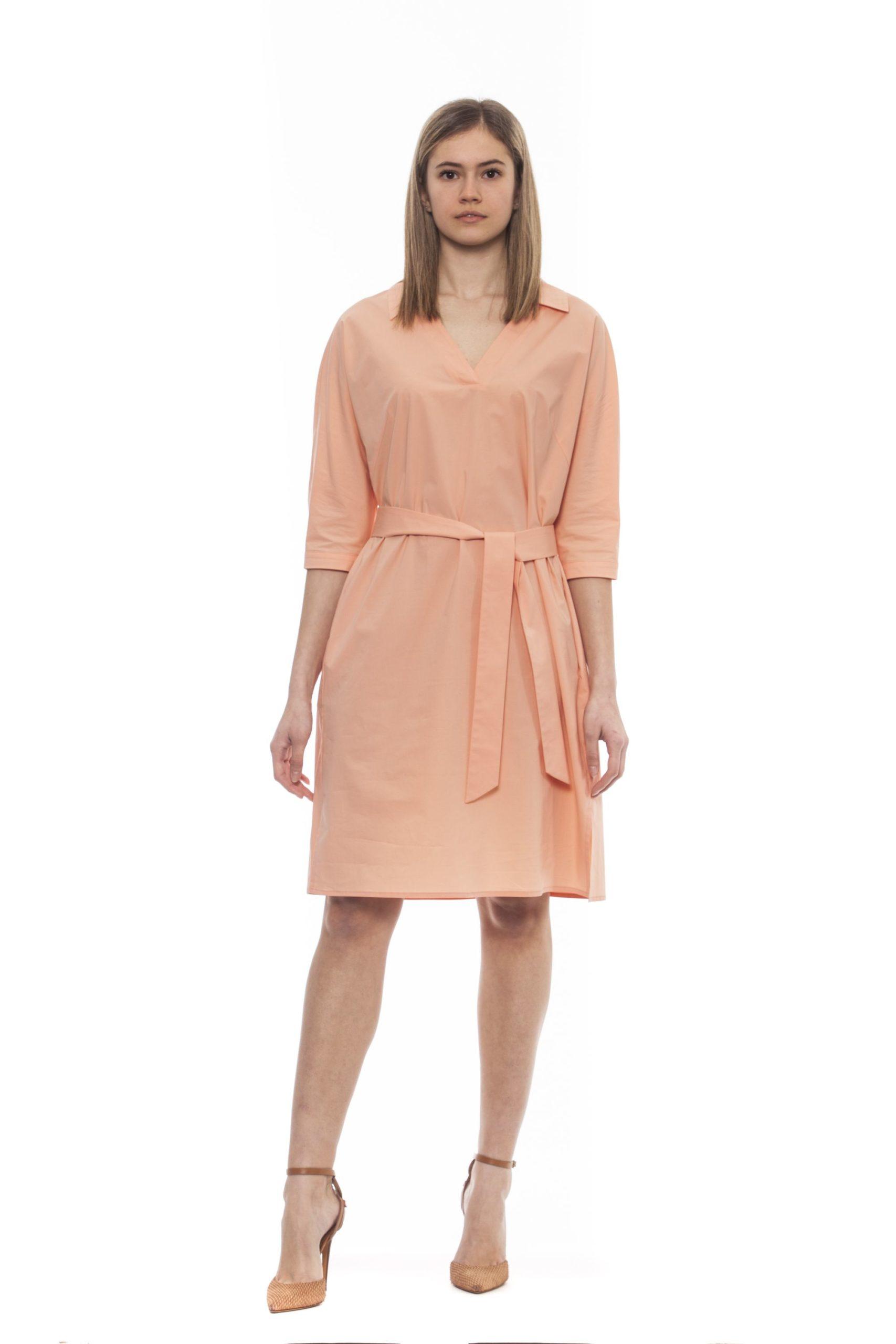 Peserico Women's Marrone Dress Brown PE1383256 - IT42 | S
