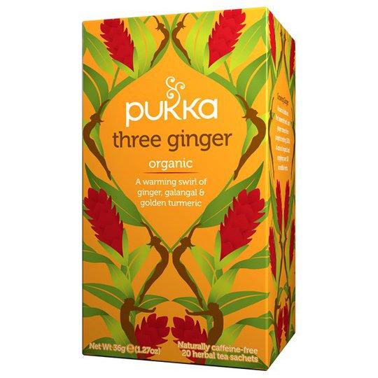 Pukka Herbs Örtte Three Ginger, 20 påsar