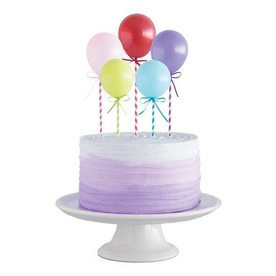 Tårtdekoration Miniballonger - 5-pack