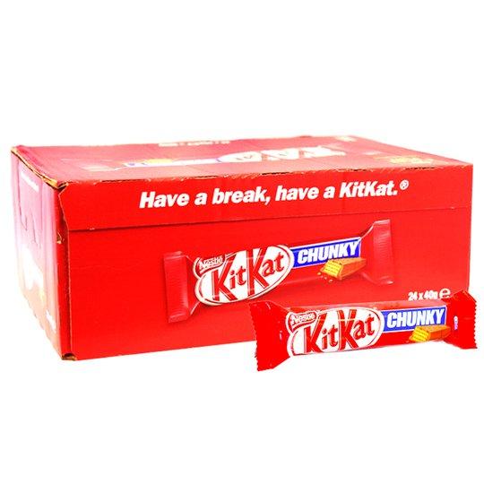 "Hel Låda Kitkat ""Chunky"" 24 x 40g - 35% rabatt"