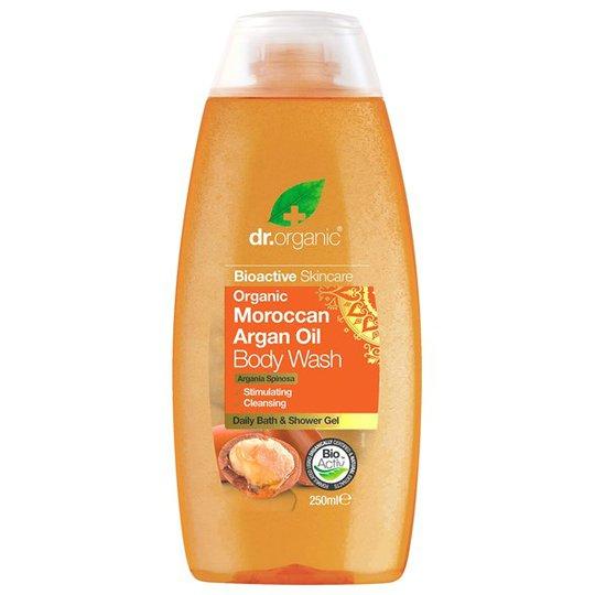 Dr. Organic Moroccan Argan Oil Body Wash, 250 ml