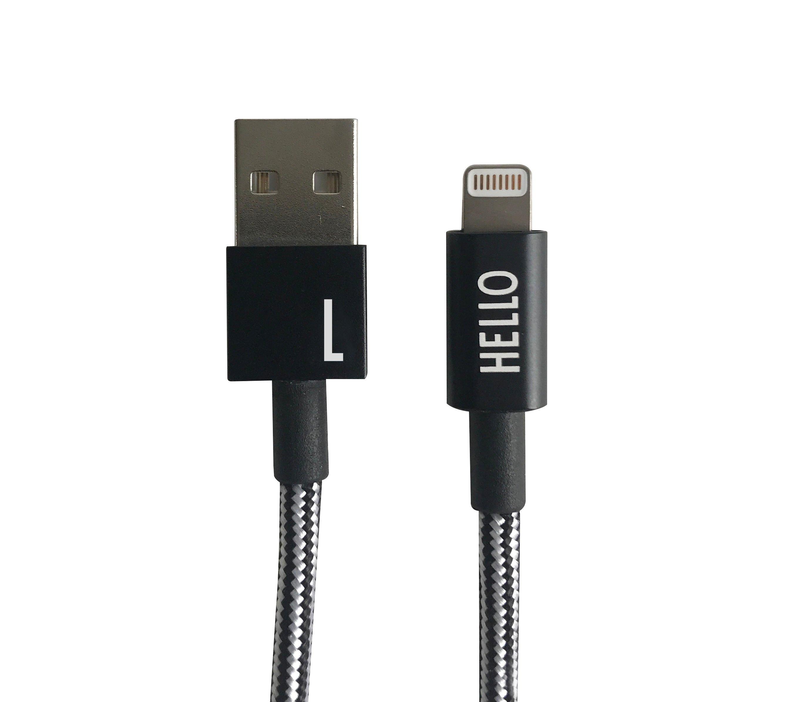 Design Letters - Lightning Cable 1 Meter L - Black (60201010L)