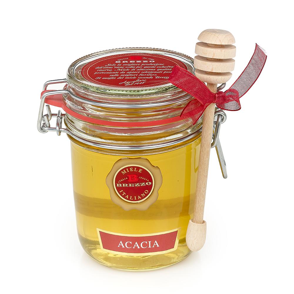 Acacia Honey with Dipper 400g by Brezzo