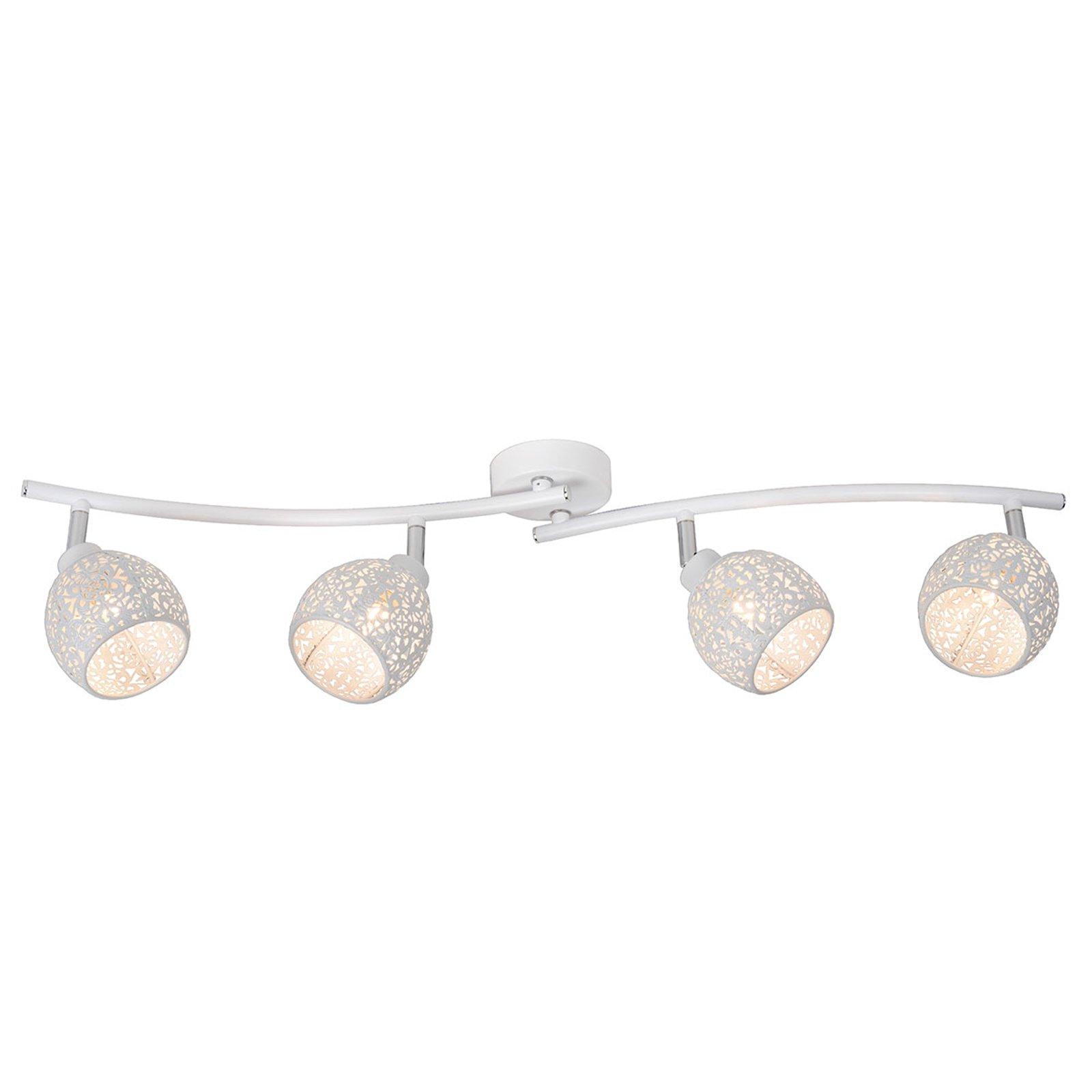 Tahar justerbar taklampe med 4 spotter
