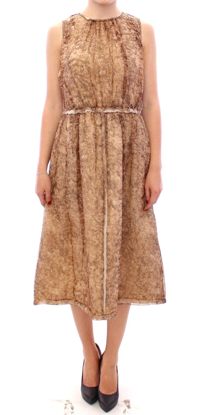 Dolce & Gabbana Women's Sleeveless Silk Dress Brown GSS11463 - IT40|S