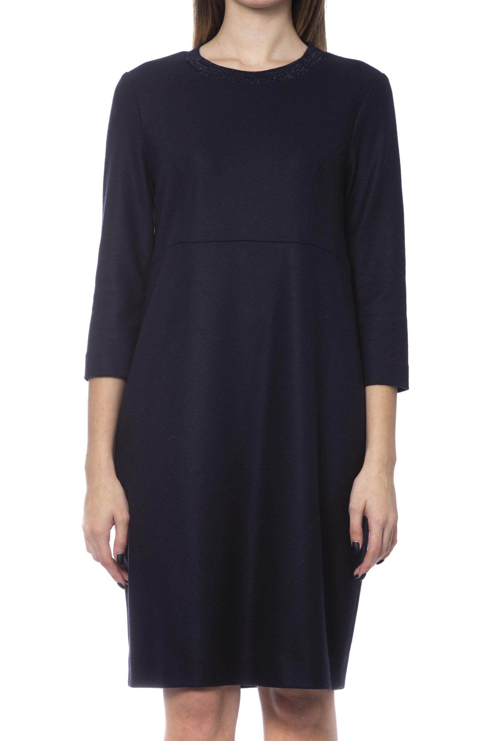 Peserico Women's Dress Blue PE993684 - IT48   XL
