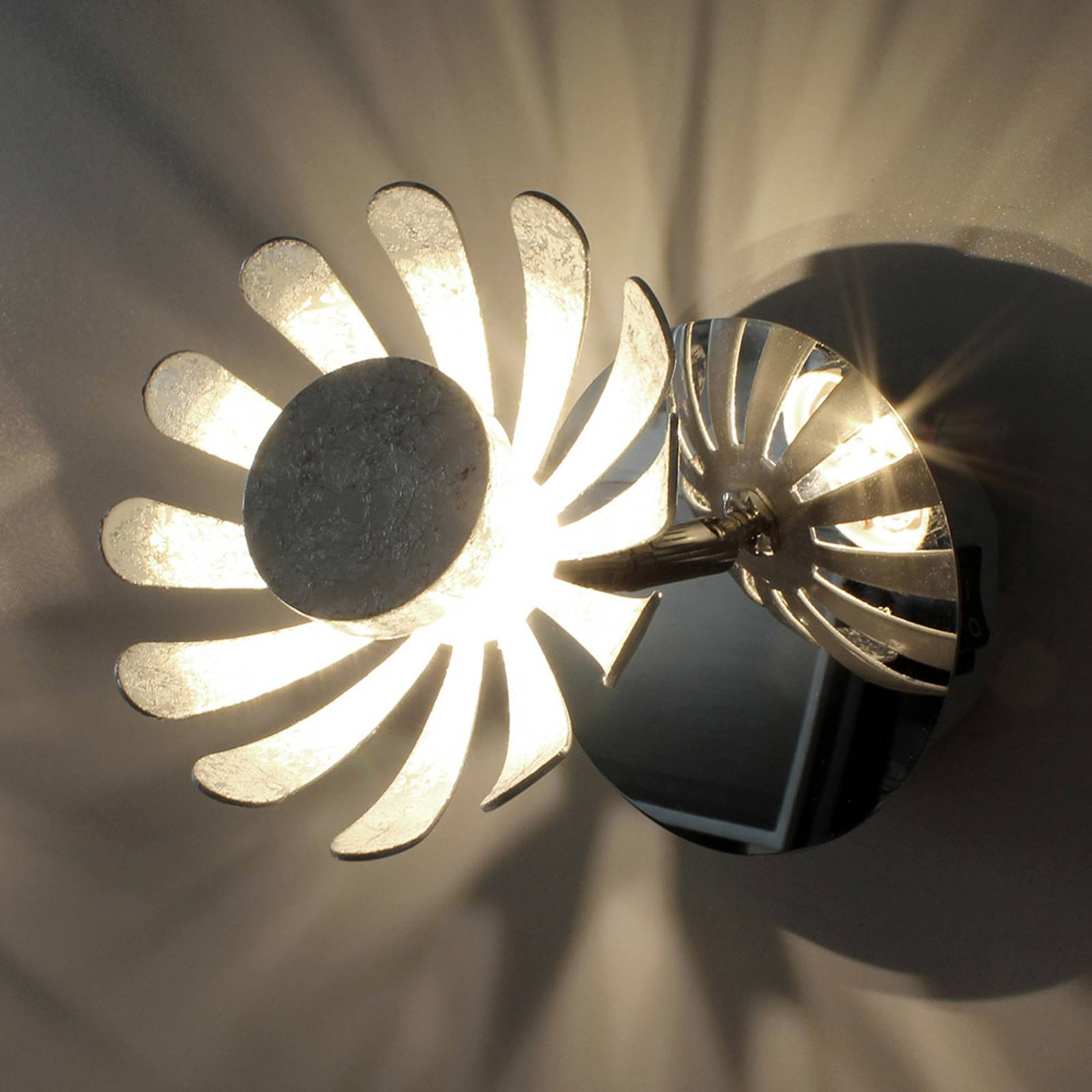 LED-seinävalaisin Bloom, hopea