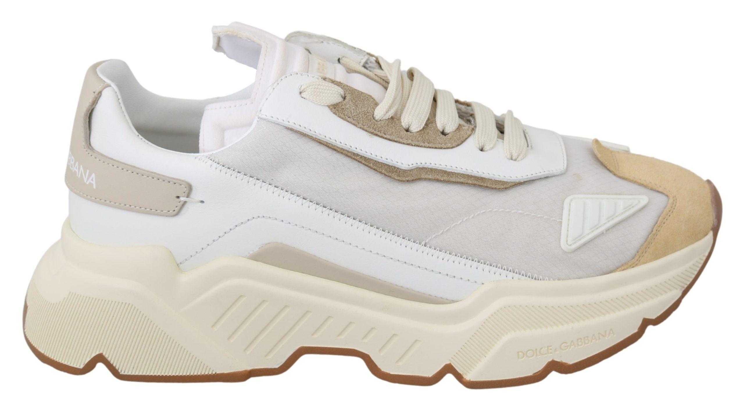 Dolce & Gabbana Women's Leather Trainer White LA7001 - EU39/US8.5